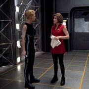 Janeway and Seven of Nine after velo