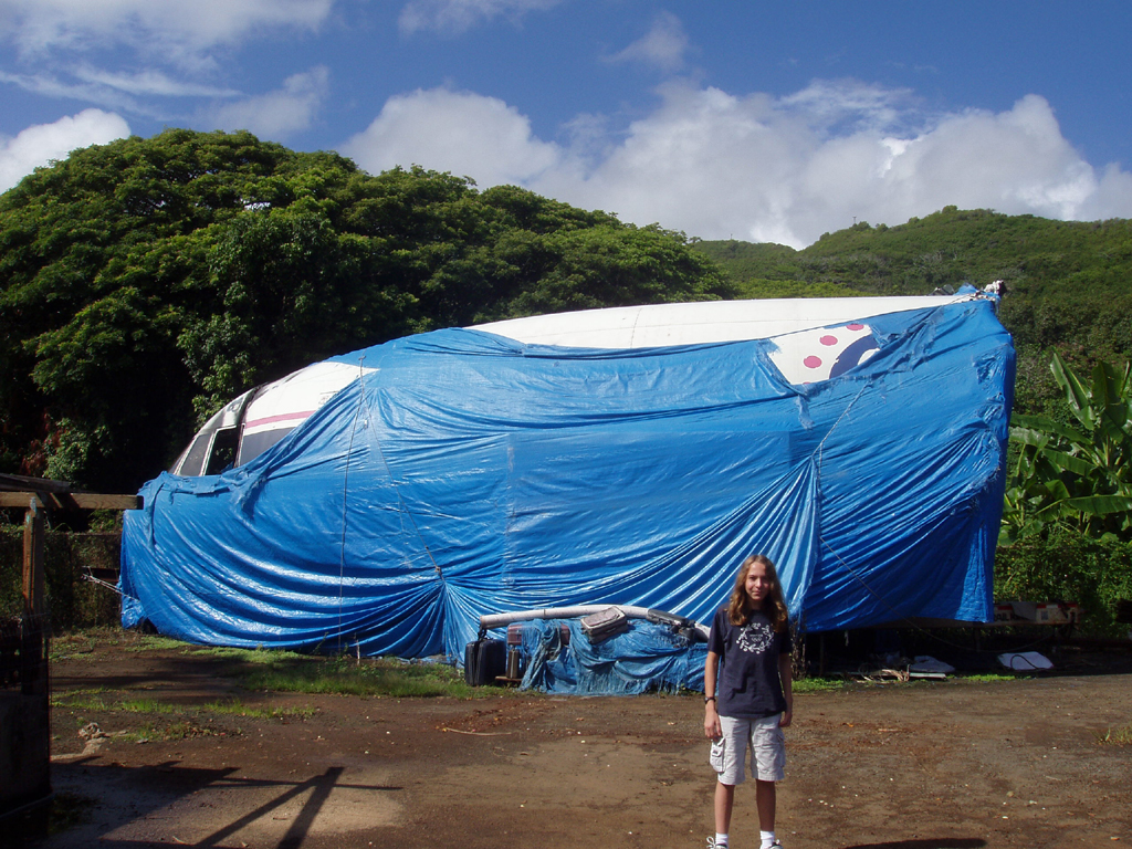 The nose piece of the Lockheed L-1011 prop at the He'eia Kea storage ...