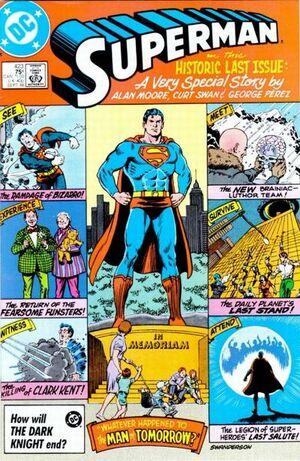 Cubierta para Superman # 423 (1986)