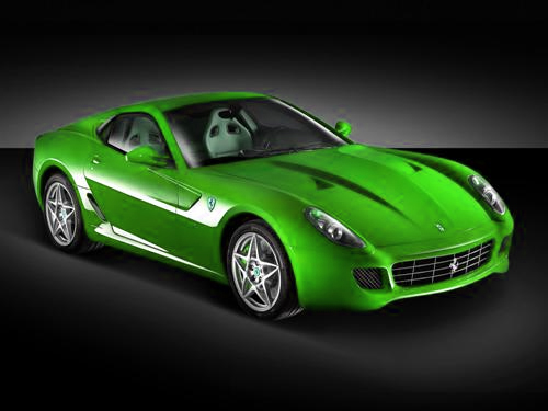 Lime Green Ferrari 1