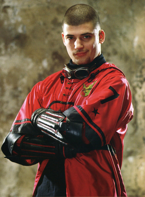 Viktor in his bulgarian quidditch uniform