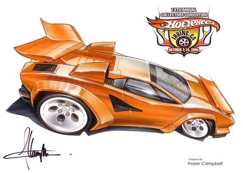 lamborghini countach 39 tooned hot wheels wiki wikia. Black Bedroom Furniture Sets. Home Design Ideas