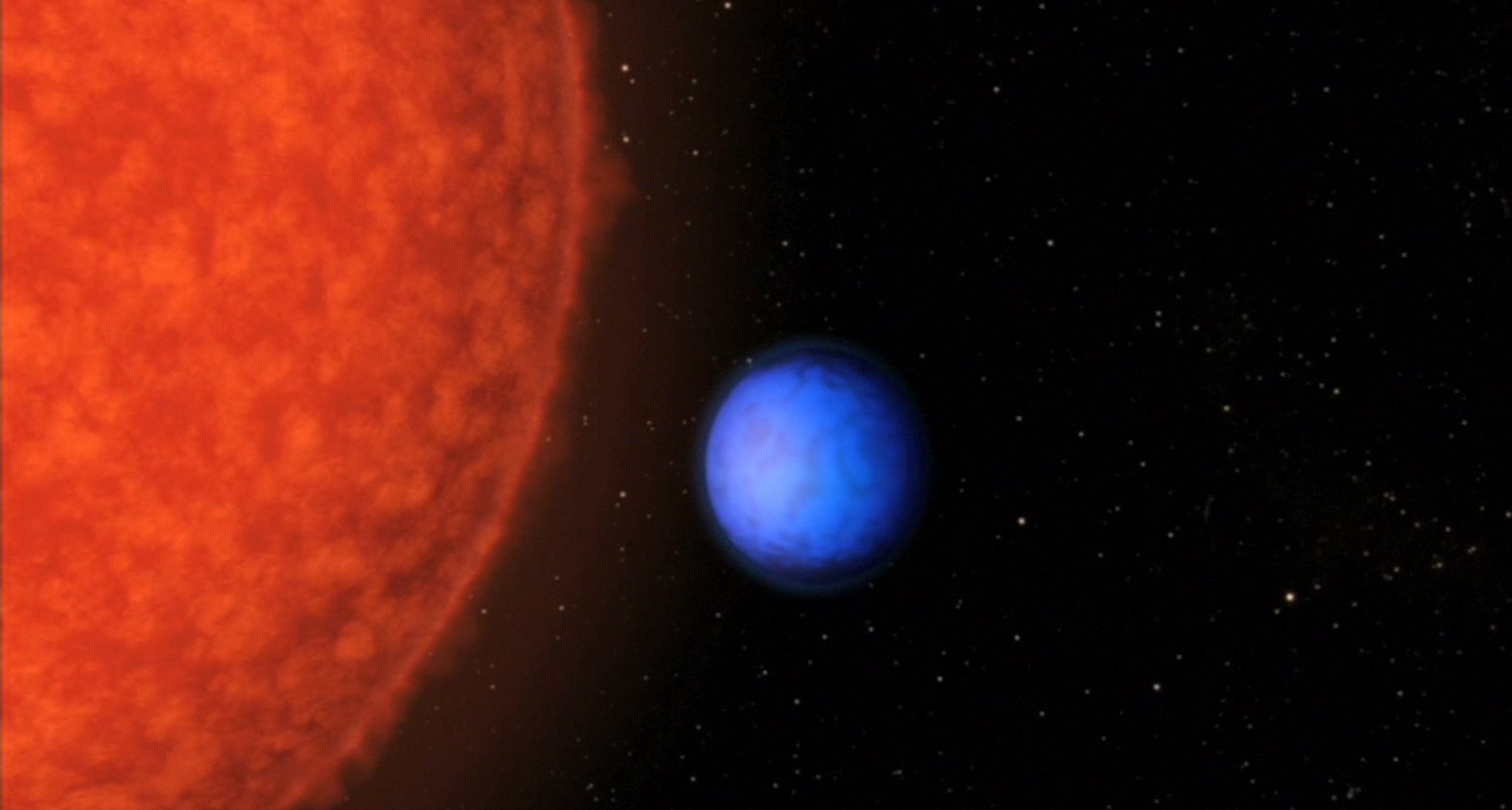 The planet Krypton orb...