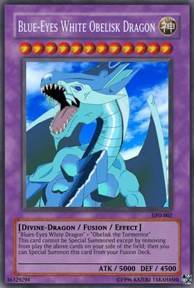 Blue Eyes White Obelisk Dragon Yu Gi Oh Card Maker Wiki