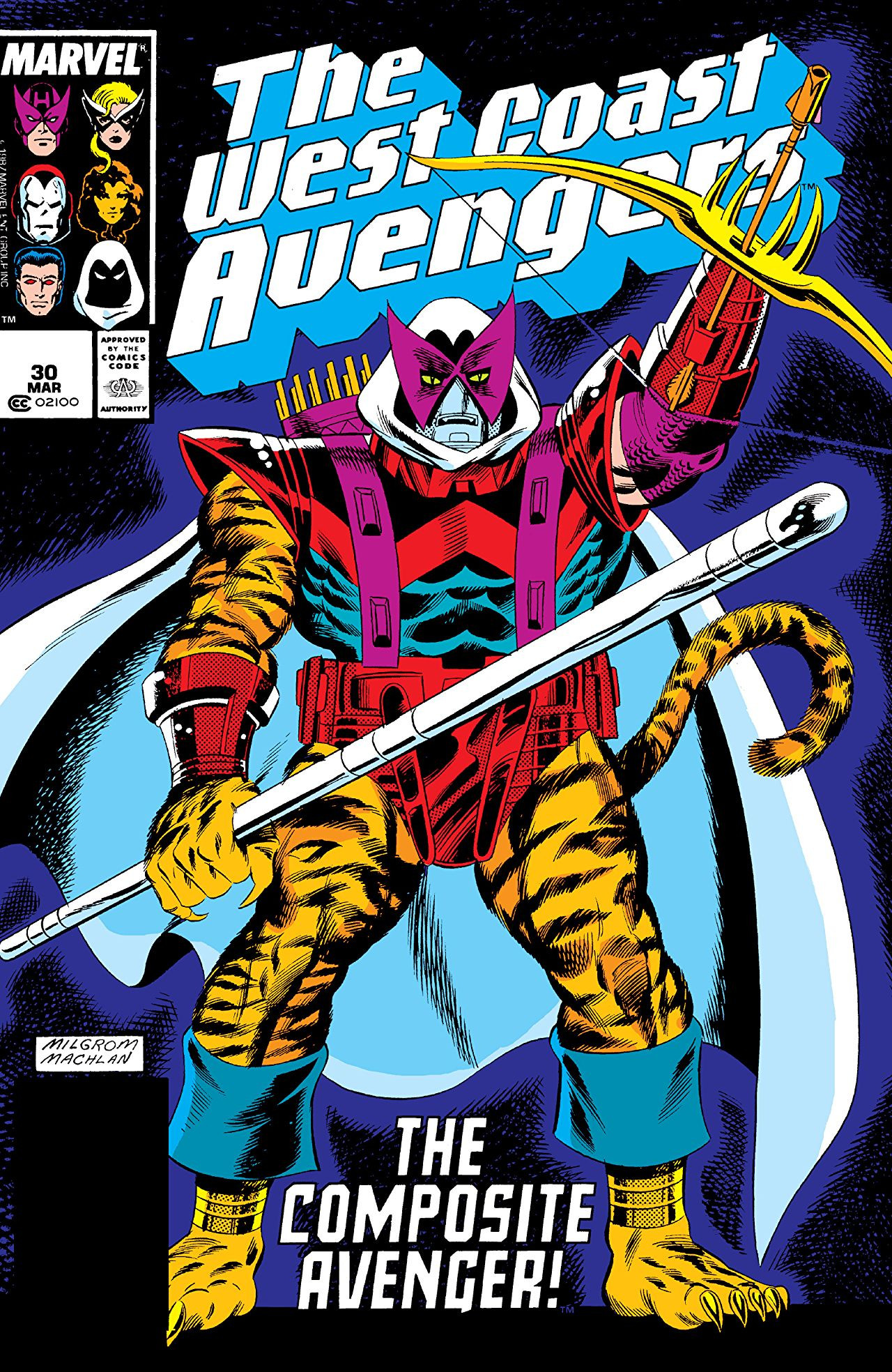 West coast avengers (vol 1) # 53 mint (nm) marvel comics modern age