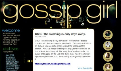 Gossip Girl Website