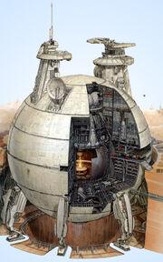 Risszeichnung eines kernschiffs