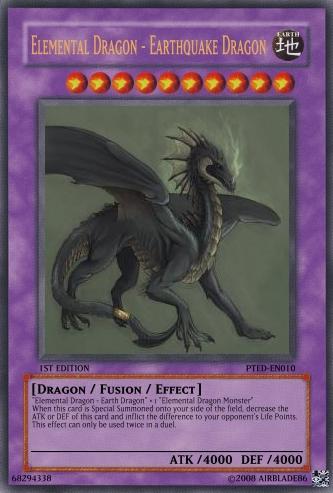 Elemental Dragon - Earthquake Dragon - Yu-Gi-Oh Card Maker ... Element Dragon Yugioh