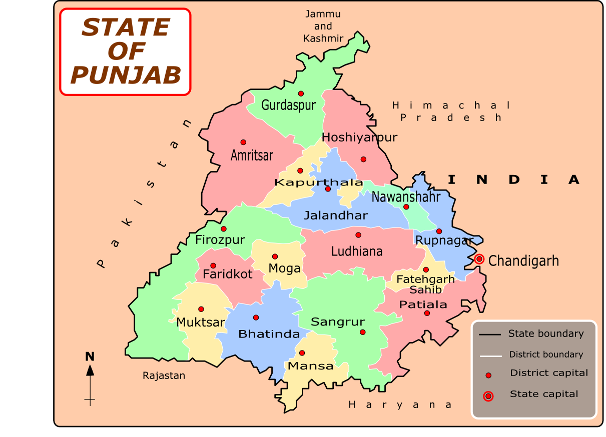 Punjab Means The Land Of Five Rivers Is The Land Of Majority Sikhs Of India It Is Located In The North West Its Capital