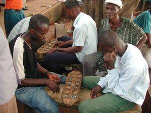 Playing oware in kumasi