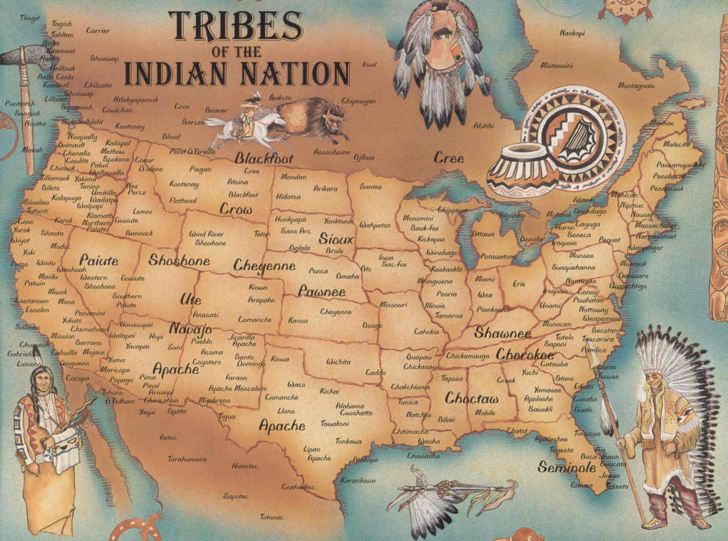 List and maps of Native American tribes - Oral Tradition Wiki