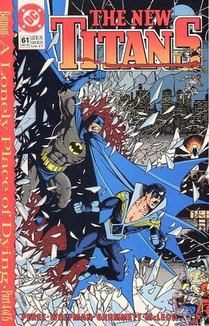 Cover for New Titans #61 (1989)