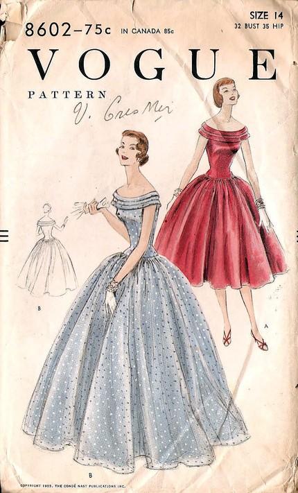 vogue 8602 vintage sewing patterns