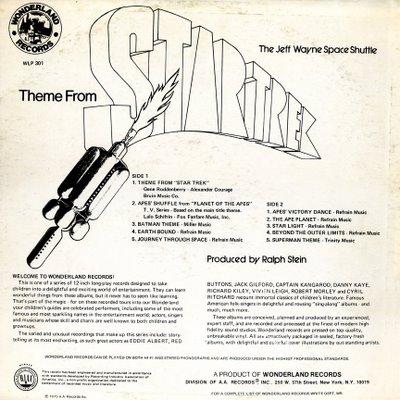 Jeff Wayne Space Shuttle Apes Shuffle Theme From Star Trek