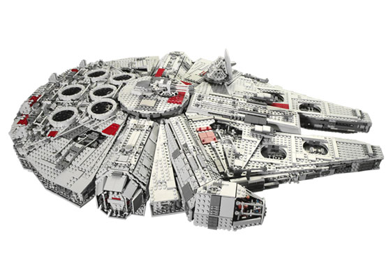 ... Collector's Millennium Falcon , the second largest LEGO set ever made