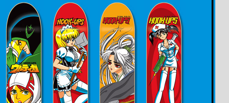 hookup decks Their decks can withstand the roughest terrains without wearing down and breaking show your brand devotion by sporting a hook-ups skateboard t-shirt their graphic tees are.