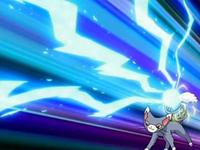 The Pokémon Alma EP510_Glameow_usando_onda_voltio