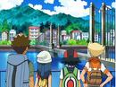 EP572 Brock, Maya, Ash y Barry contemplando ciudad Canal.png