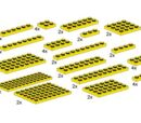 10012 Assorted Yellow Plates