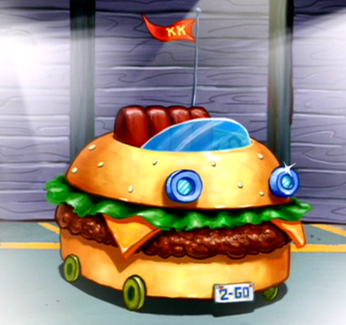 Spongebob Squarepants Driving In Burger Car Game