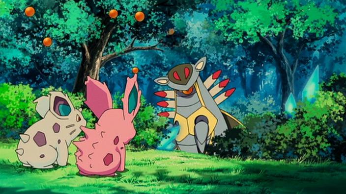 Pokémon P08_Armaldo_y_Nidoran