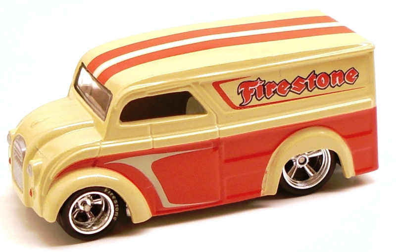 12 / 34 2010 Hot Wheels Delivery - Slick Rides Metalflake Cream / Red
