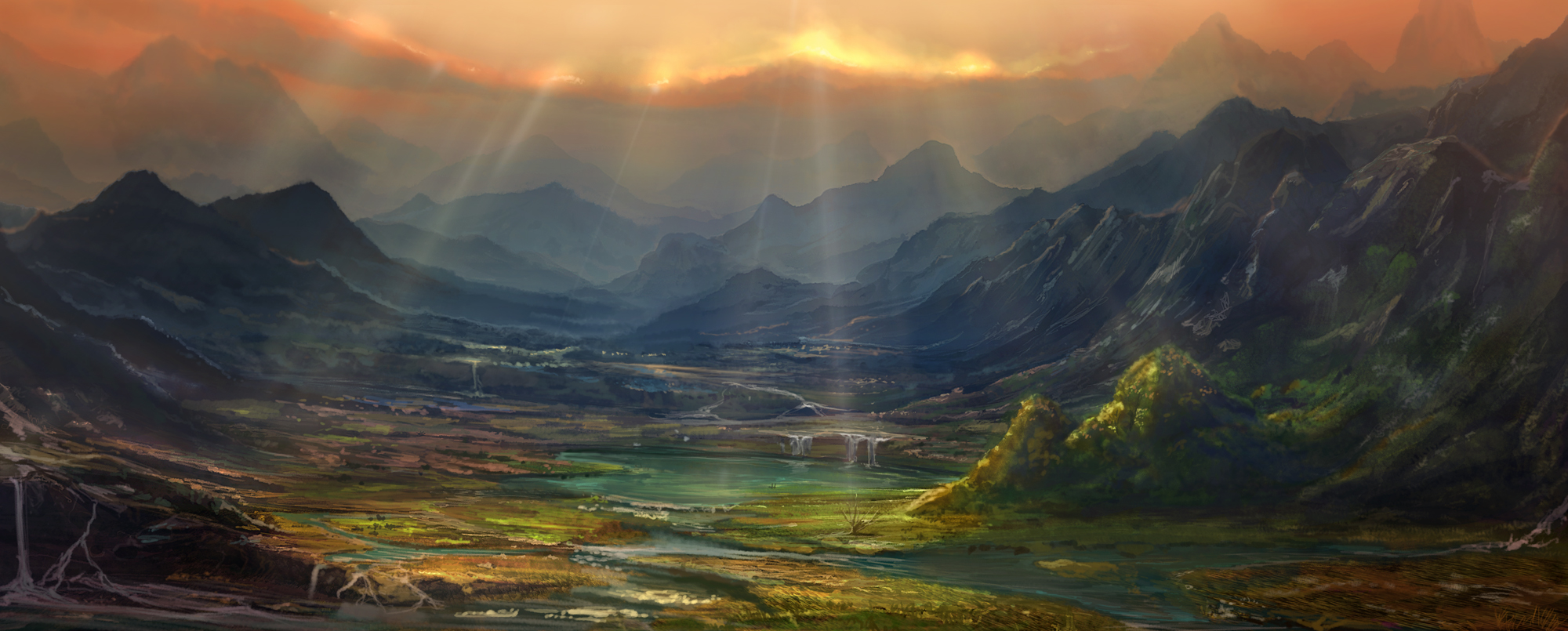 Fantasy war landscape - photo#21