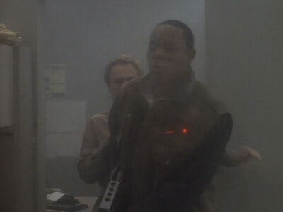 Sisko wird angeschossen