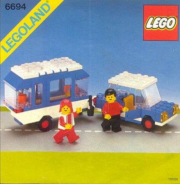 6694 Car With Camper Brickipedia The Lego Wiki