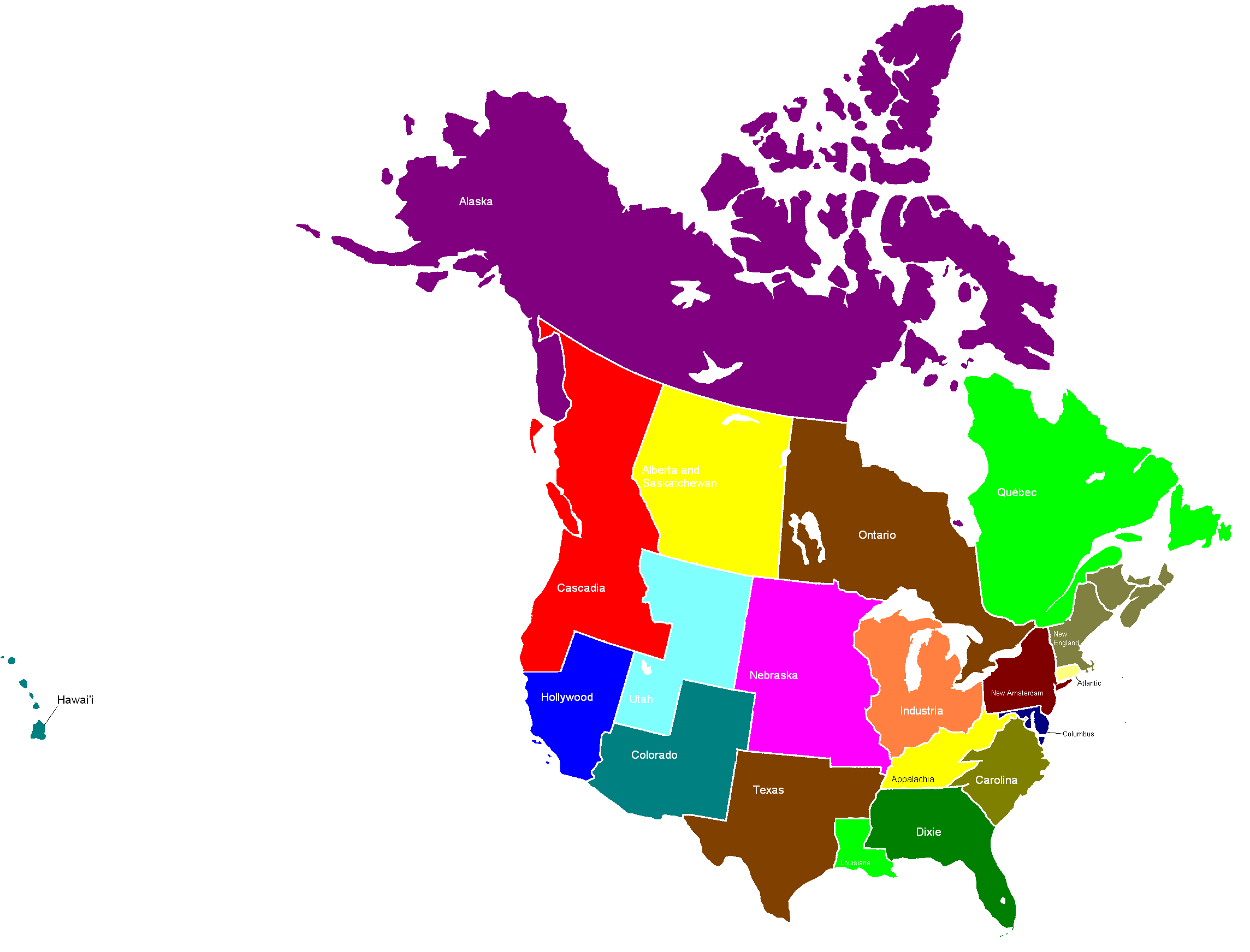 Map Of Usa And Canada With States And Provinces