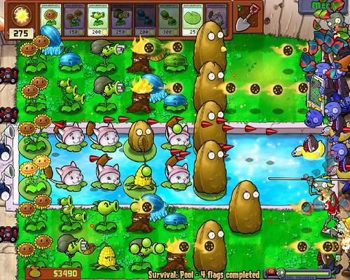 Plants vs zombies roof survival strategy