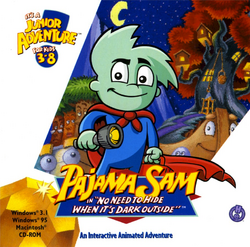 Pajama Sam Box Art