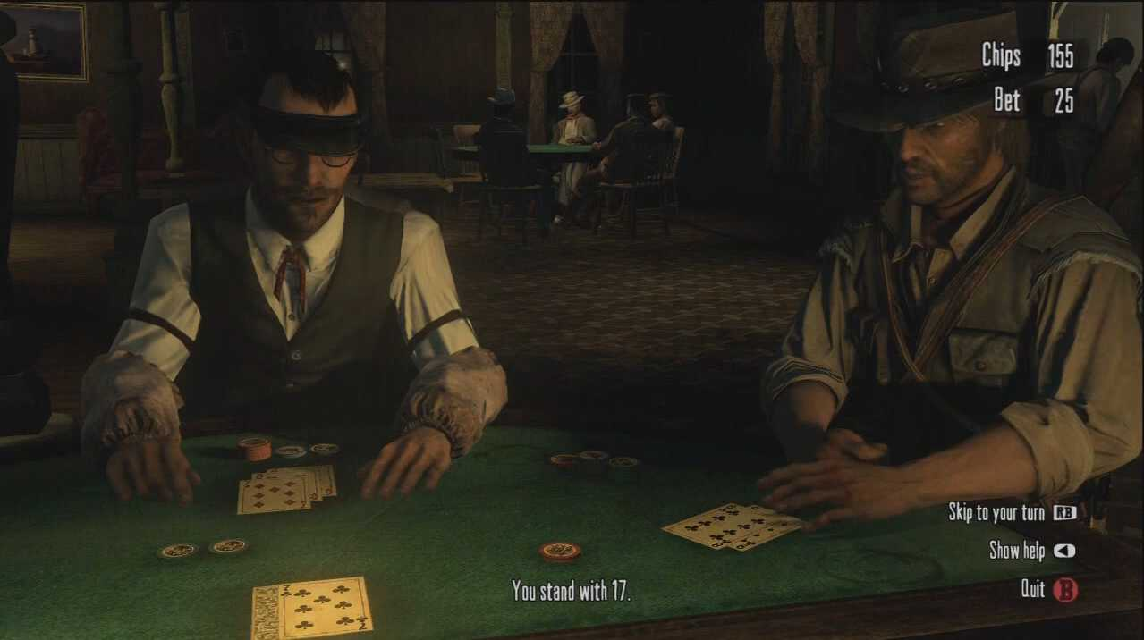 how do i win at blackjack in red dead redemption