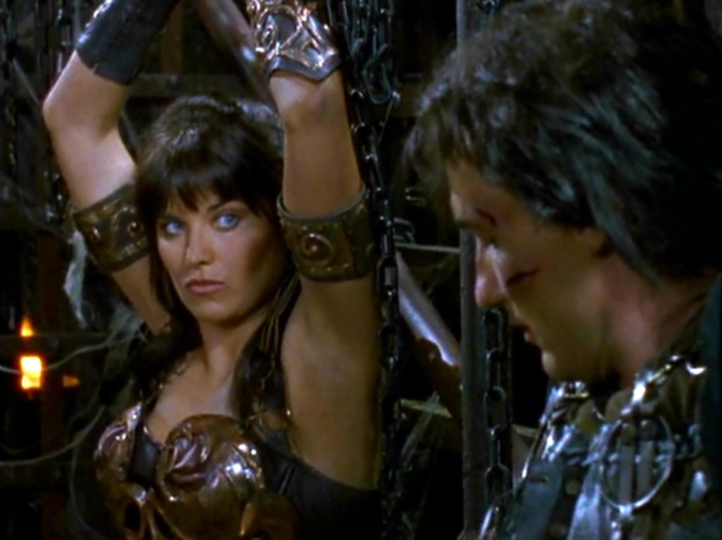 Xena and Toris chained up settle there differencesXena Warrior Princess Angry