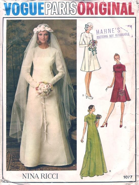 Vogue 1077 B Vintage Sewing Patterns