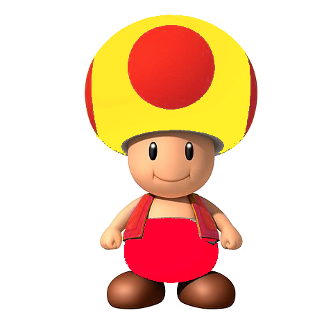 Yellow toad mario