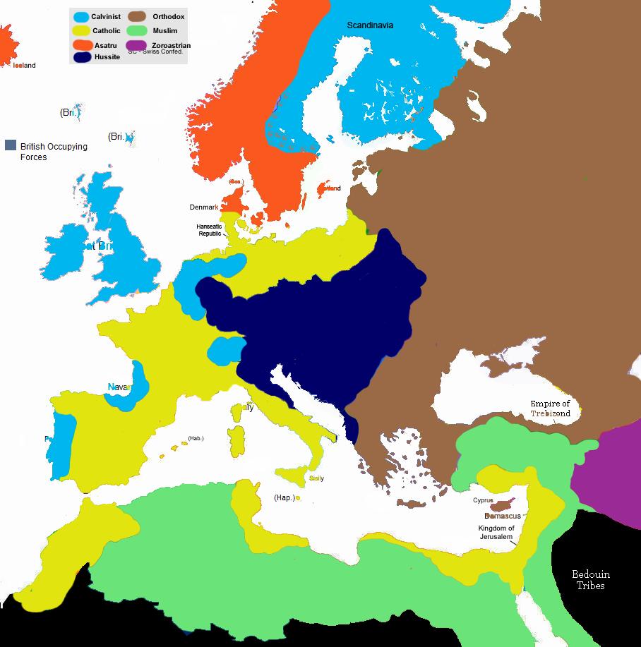 Talk Europe 1430 Map Game Alternative History