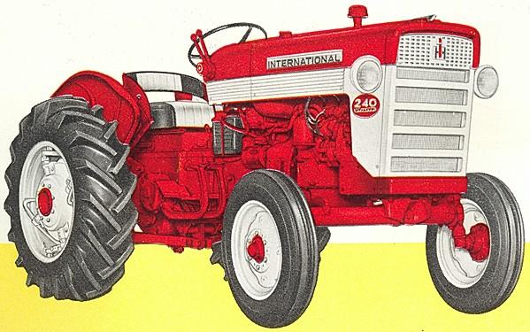 1958 International Tractor : International utility tractor construction plant