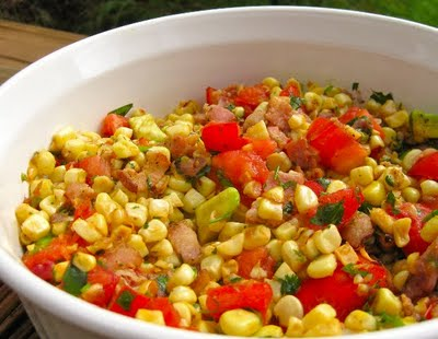Cherry Tomato Salad with Fresh Basil, Corn and Onion - Healthy Recipes ...