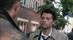 Castiel and Dean in the past