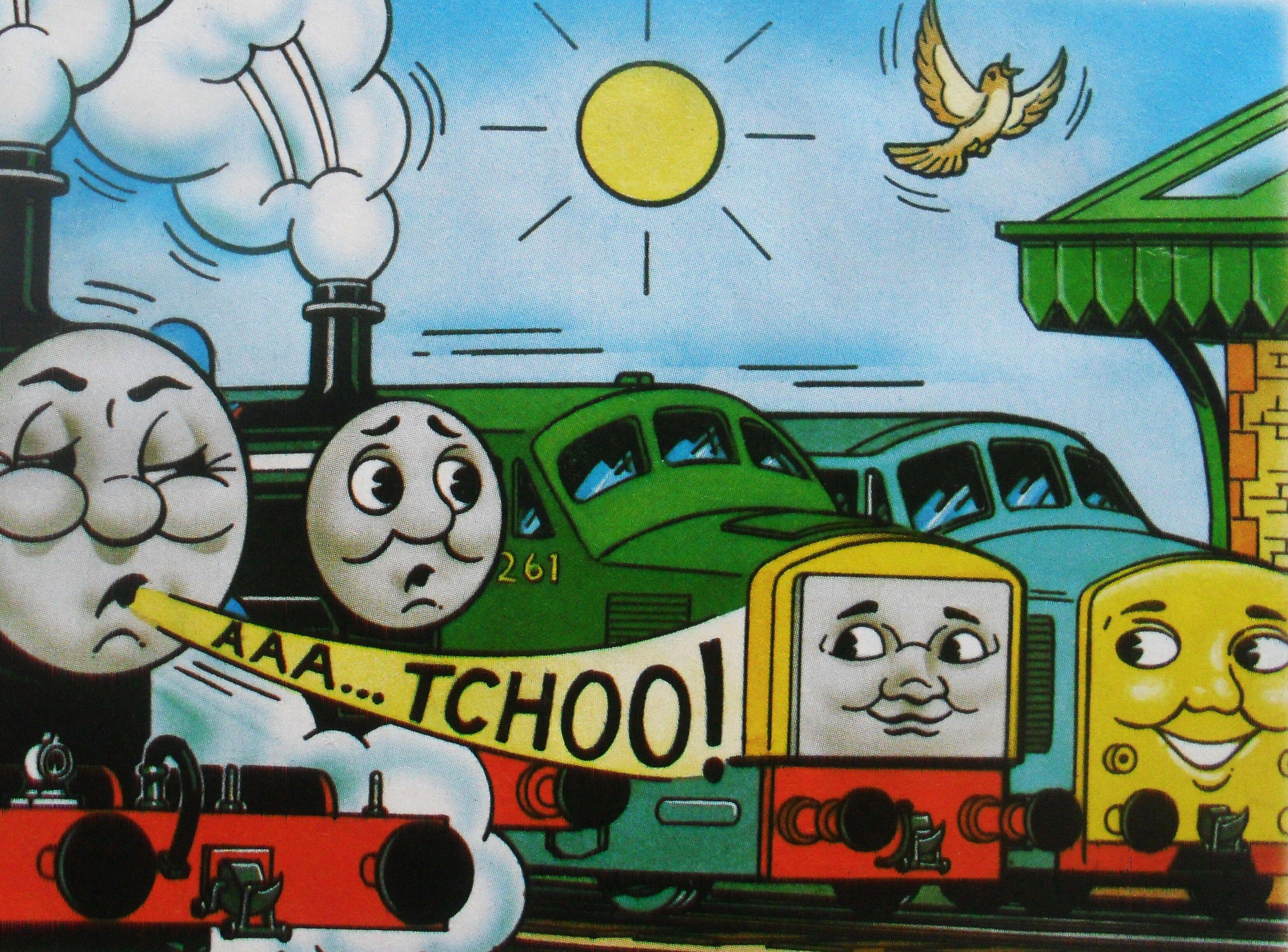 マガジンストーリーでトーマスとジェームスとディーゼル261と共に居るD199
