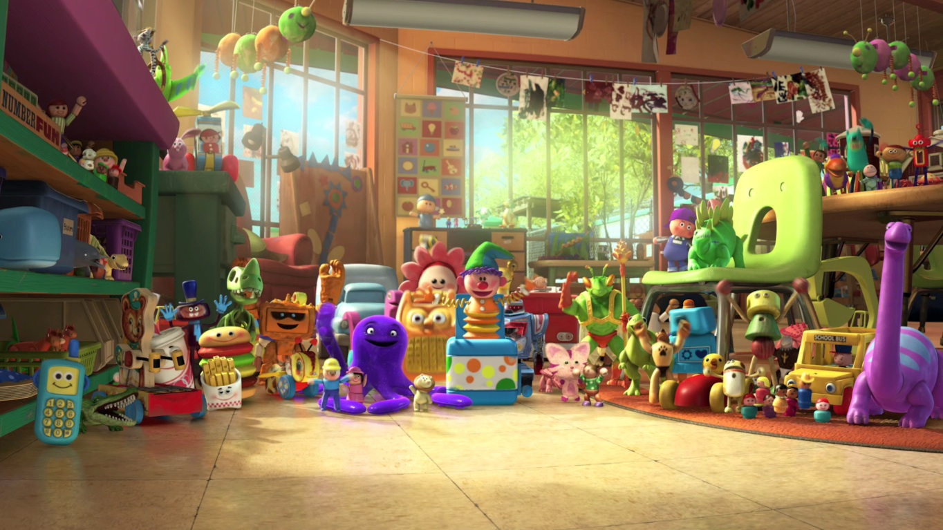 Toy Story 3 Sunnyside Daycare : Butterfly room pixar wiki disney animation studios