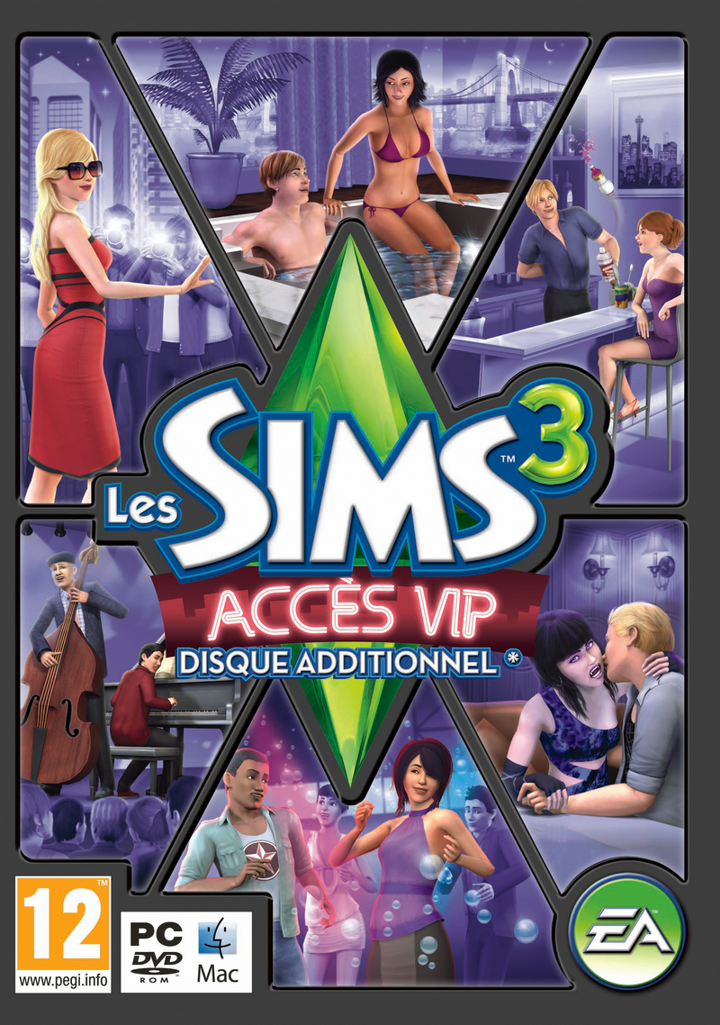 Les Sims 3 Showtime Edition Collector Katy Perry: Jaquette Les Sims 3 Accès VIP
