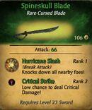 Spineskull Blade