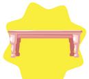 Elegant Pink Dining Table