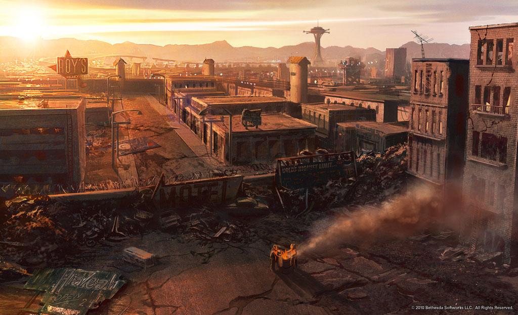 1000 images about c o n c e p t a r t on pinterest fallout concept art skyrim concept art - Fallout new vegas skyline ...