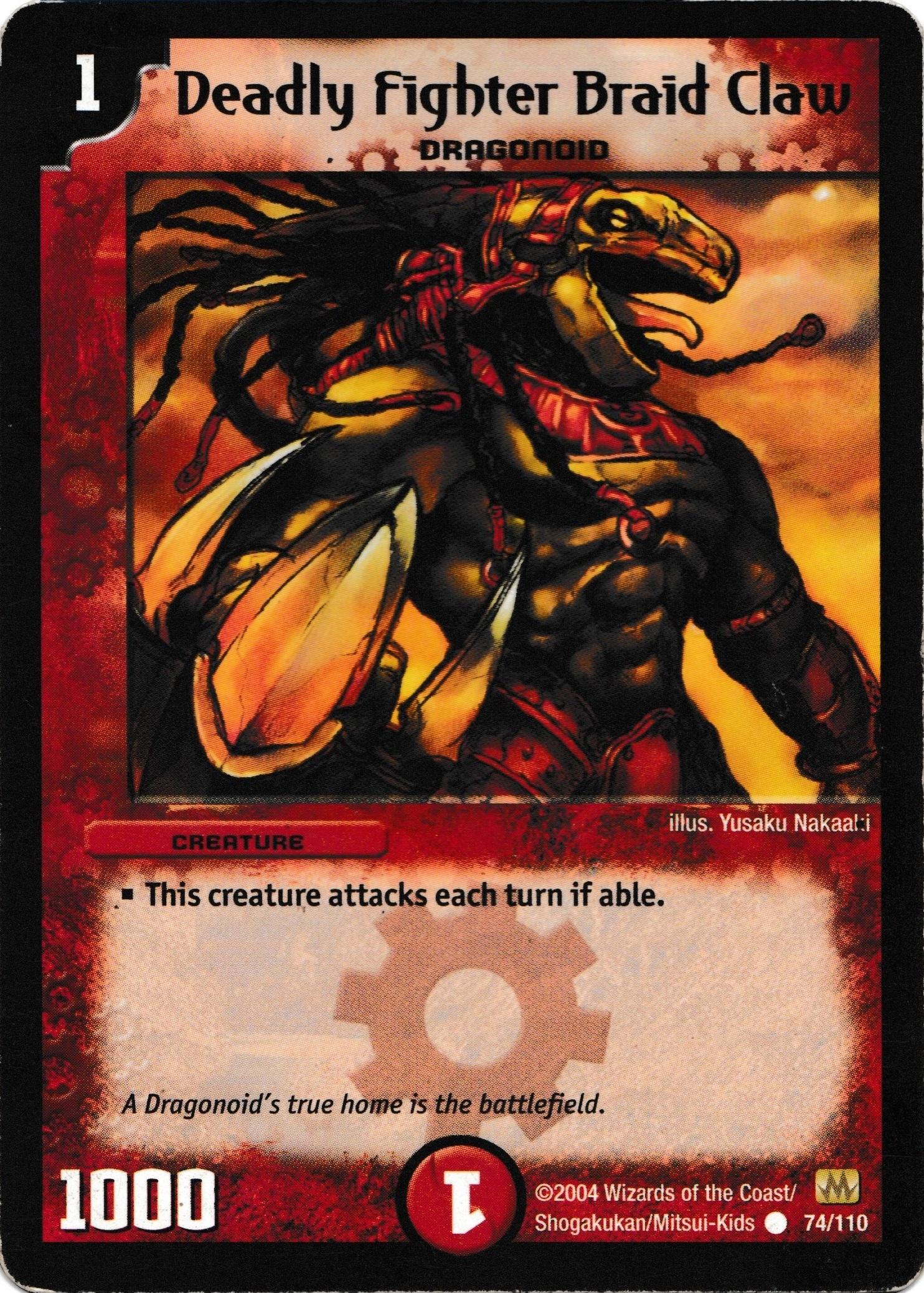 DM-01 Base Set - Käyttökelpoisimmat kortit DeadlyFighterBraidClaw
