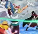 Monkey D. Luffy gegen Dracule Mihawk