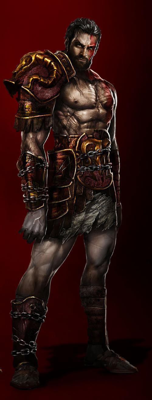 Kratos Brother Deimos Demigod - God o...