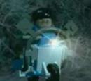 Light-Blue Flying Scooter